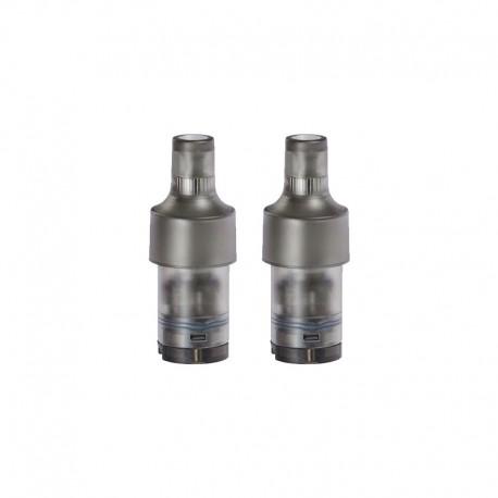 Authentic Acrohm Fush Nano Pod System Vape Kit Replacement Pod Cartridge w/ 1.0ohm Mesh Coil - Black, 1.8ml (2 PCS)