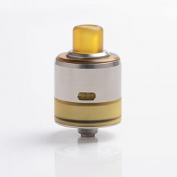 SXK LE Turbo Style MTL RDA Rebuildable Dripping Atomizer w/ BF Pin - Silver, 316 Stainless Steel, 22mm Diameter