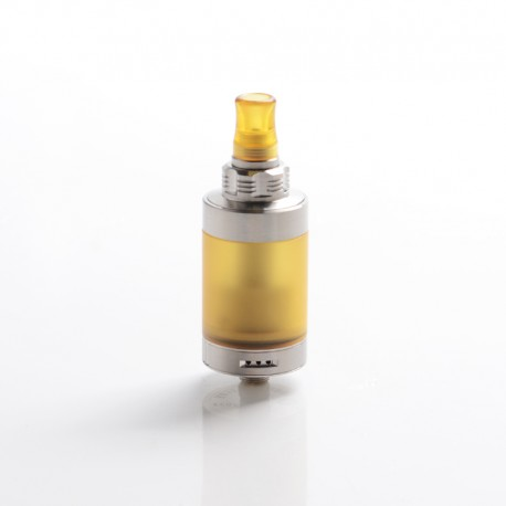 SXK 415 FOUR ONE FIVE Style MTL RTA Rebuildable Tank Vape Atomizer - Silver, 316SS + PEI, 4.5ml, 22mm Diameter