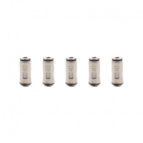 Authentic Asvape Hita Mech Mod RBA Pod Vape Kit Replacement DTL Mesh Coil Head - Silver, 0.5ohm (5 PCS)