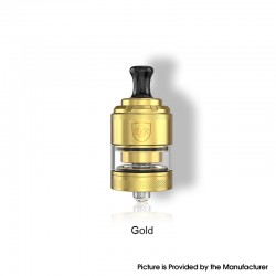 Authentic Vandy Vape Berserker BSKR V2 MTL RTA Rebuildable Tank Vape Atomizer - Gold, SS + Glass, 3ml, 24mm Diameter