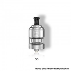 Authentic Vandy Vape Berserker BSKR V2 MTL RTA Rebuildable Tank Vape Atomizer - SS, Stainless Steel + Glass, 3ml, 24mm Diameter