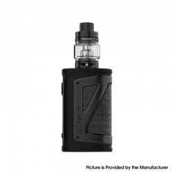 Authentic SMOKTech SMOK SCAR-18 230W VW Mod Vape Starter Kit with TFV9 Tank - Black, Zinc Alloy + SS + Glass, 1~230W, 2 x 18650