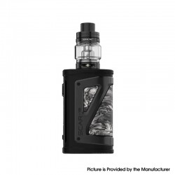 Authentic SMOKTech SMOK SCAR-18 230W VW Mod Vape Starter Kit w/ TFV9 Tank - Black White, Zinc Alloy, 1~230W, 2 x 18650