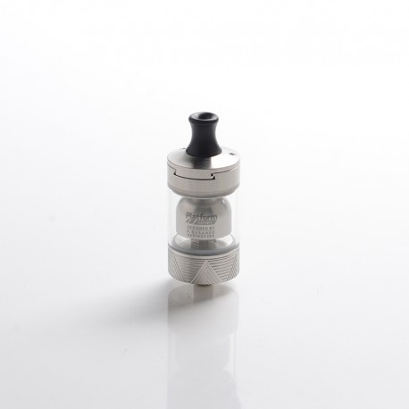 Authentic Innokin Ares 2 D24 MTL RTA Rebuildable Tank Vape Atomizer - Silver, Stainless Steel + Glass, 4.0ml, 24mm Diameter