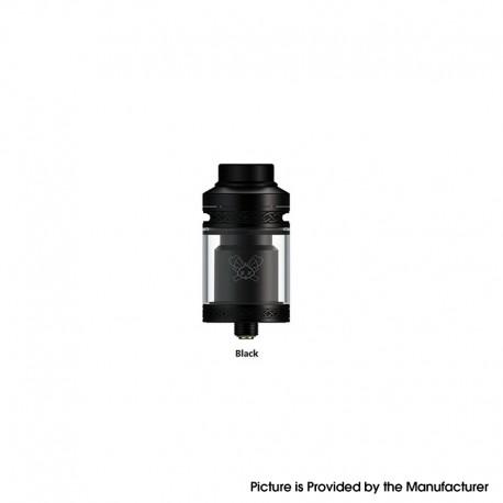 Authentic Hellvape Dead Rabbit V2 RTA Rebuildable Tank Vape Atomizer - Black, Stainless Steel, 2ml / 5ml, 25mm Diameter