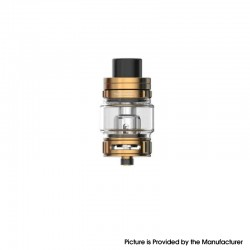 Authentic SMOKTech SMOK TFV9 Sub Ohm Tank Clearomizer Vape Atomizer - Gold, 6.5ml, 0.15ohm, 28mm Diameter