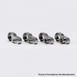 YFTK Dvarw MTL FL Facelift 22mm/24mm RTA Replacement Single Hole Airflow AFC Inserts - Silver, 0.8 + 1.0 + 1.5 + 2.0mm, (4 PCS)