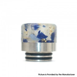 Authentic VapeSoon DT410 810 Drip Tip for SMOK TFV8 / TFV12 Tank / Kennedy / Reload RDA Vape Atomizer - Blue, Resin + SS, 17mm