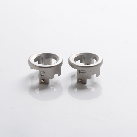 Vapeasy Armor Engine Style RDA Replacement Airflow Inserts - SS Satin, 1.2 x 1.2mm + 1.8 x 2.2mm (2 PCS)