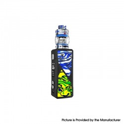 Authentic FreeMax Maxus 100W TC VW Box Mod + Fireluke 3 Tank Vape Kit Resin Edition - Blue, 5~100W, 1 x 21700/20700/18650, 5ml