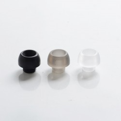 Authentic Yachtvape Pandora MTL RTA Vape Atomizer Replacement Drip Tip Set - Black + Grey + Clear, PC + POM + Acrylic (3 PCS)