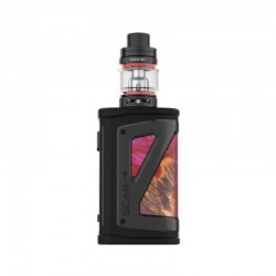 Authentic SMOKTech SMOK SCAR-18 230W VW Mod Vape Starter Kit with TFV9 Tank - Red Stabilizing Wood, 1~230W, 2 x 18650