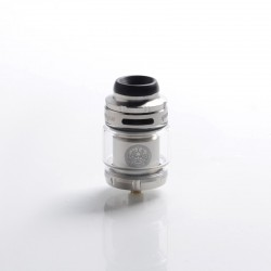 Authentic GeekVape Zeus X Mesh RTA Rebuildable Tank Vape Atomizer - Stainless Steel, SS + Glass, 4.5ml, 0.17 /0.20ohm, 26mm Dia.
