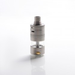 Genelocity Giant Style RTA Rebuildable Tank Vape Atomizer - Silver, Stainless Steel, 12ml, 32.5mm Diameter