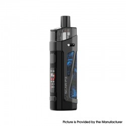 Authentic SMOKTech SMOK SCAR-P3 80W 2000mAh VW Box Mod Pod System Vape Starter Kit - Fluid Blue, Zinc Alloy, 5~80W