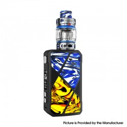 Authentic FreeMax Maxus 200W TC VW Box Mod + M Pro 2 Tank Atomizer Vape Kit - Blue Yellow, Resin, 1/2 x 18650, 5~200W 5ml
