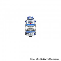 Authentic FreeMax Fireluke 3 Sub Ohm Tank Clearomizer Vape Atomizer - Blue, SS + Resin, 0.2ohm, 5ml, 28.2mm Diameter