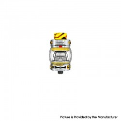 Authentic FreeMax Fireluke 3 Sub Ohm Tank Clearomizer Vape Atomizer - Yellow, SS + Resin, 0.2ohm, 5ml, 28.2mm Diameter