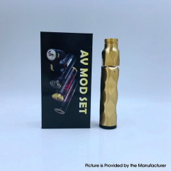 The Stealth Style Mechanical Mod + Battle Style RDA Atomizer Vape Kit - Brass, Brass + Stainless Steel, 1 x 18650