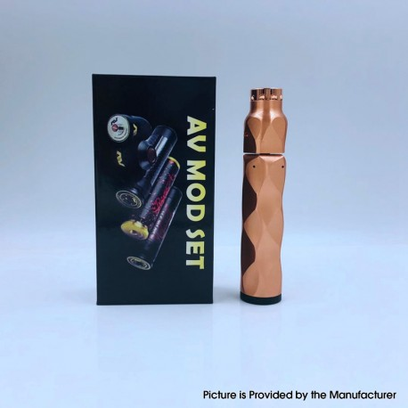 The Stealth Style Mechanical Mod + Battle Style RDA Atomizer Vape Kit - Copper, Copper + Stainless Steel, 1 x 18650