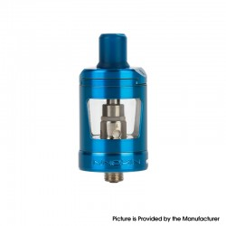 Innokin Zlide Sub Ohm Tank Atomizer Vape Clearomizer - Blue, SS + Glass, 1.2ohm / 0.8ohm, 4.0ml, 24mm Diameter