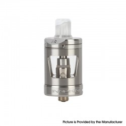 Innokin Zlide Sub Ohm Tank Atomizer Vape Clearomizer - Silver, SS + Glass, 1.2ohm / 0.8ohm, 4.0ml, 24mm Diameter