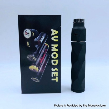 The Stealth Style Mechanical Mod + Battle Style RDA Atomizer Vape Kit - Black, Copper + Stainless Steel, 1 x 18650