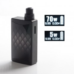 Authentic Vandy Vape Kylin M AIO 70W TC VV VW Box Mod RBA Pod System Vape Starter Kit - Wormhole, 2.5ml / 5ml, 5~70W, 1 x 18650