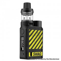 Authentic Vaporesso SWAG II 80W VW Box Mod w/ NRG PE Tank Atomizer Vape Kit - Zebra Yellow, 5~80W, 1 x 18650, 3.5ml, 0.15/0.5ohm