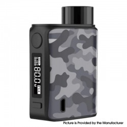 Authentic Vaporesso SWAG II 2 80W VW Variable Wattage Vape Box Mod - Camo Grey, 5~80W, 0.03~5.0ohm, 1 x 18650