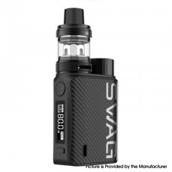 Authentic Vaporesso SWAG II 80W VW Box Mod w/ NRG PE Tank Atomizer Vape Kit - Carbon Fiber, 5~80W, 1 x 18650, 3.5ml, 0.15/0.5ohm