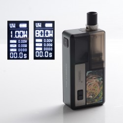 Authentic Smoant Knight 80 80W TC VW Mod RBA Pod System Vape Starter Kit - Night Green, 1~80W, 100~300'C / 200~600'F, 1 x 18650