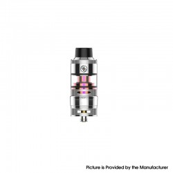 Authentic Kizoku Unlimit DL RTA Rebuildable Tank Vape Atomizer w/ Prebuild Coil - SS, SS + Glass, 3.5ml, 24mm Diameter