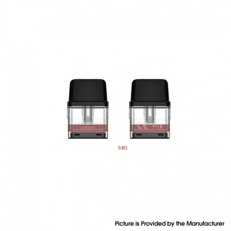 Authentic Vaporesso XROS Pod System Vape Kit Replacement Pod Cartridge w/ 0.8ohm Mesh Coil - 2.0ohm (2 PCS)