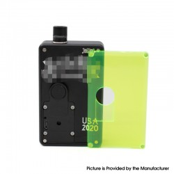 SXK Replacement Front + Back Cover Panel Plate for DNA 60W / 70W BB Style Vape Box Mod - Green, Acrylic