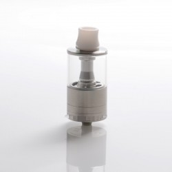 SXK Dvarw DL FL Facelift Style RTA Rebuildable Tank Vape Atomizer - Silver, 6.0ml, 316 Stainless Steel, 24mm Diameter