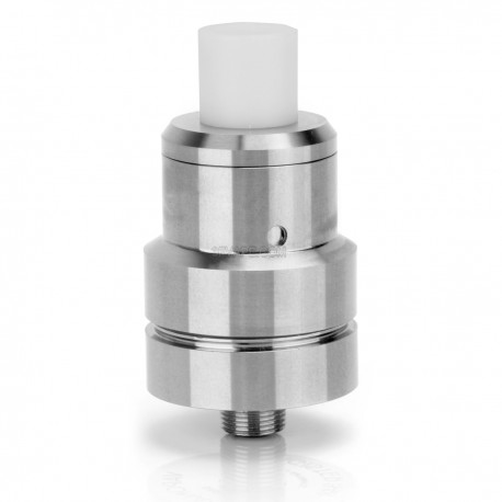 Le Magister Style RDA / RTA Rebuildable Dripping Atomizer - Silver, Stainless Steel, 22mm Diameter