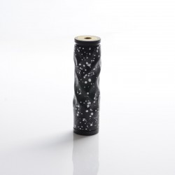 AV Lyfe Dimple Style Hybrid Vape Mechanical Mod - Black + White, Aluminum + Brass, 1 x 18650, 24mm Diameter