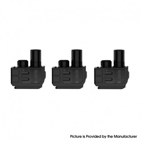 Authentic SMOKTech SMOK Mag 40W Pod System Vape Kit Replacement Empty RPM Pod Cartridge - Black, 3.0ml (3 PCS)