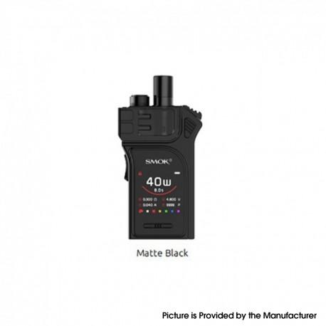 Authentic SMOKTech SMOK Mag 40W 1300mAh VW Pod System Vape Starter Kit - Matte Black, 1~40W, 3.0ml, 0.4 / 0.8ohm