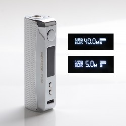 Authentic Vaporesso GTX One 40W 2000mAh VW Variable Wattage Vape Box Mod - Silver, 5~40W