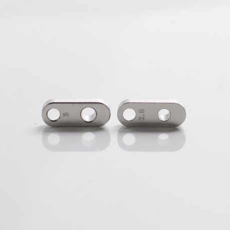 SXK Dvarw DL FL Facelift 24mm RTA Replacement Single Hole Airflow AFC Inserts - Silver, 2.5mm + 3.0mm, (2 PCS)