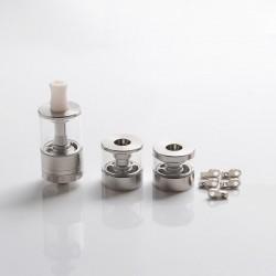 Dvarw MTL FL Facelift Style RTA Vape Atomizer w/ 5 x Inserts + 2 x Spare Tanks - Silver, 2ml/3.5ml/5ml, 22mm Dia