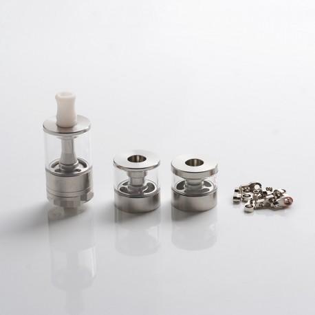 Dvarw MTL FL Facelift Style RTA Vape Atomizer w/ 11 x Air Inserts + 2 x Spare Tanks - Silver, 2ml / 3.5ml / 5ml, 22mm Dia