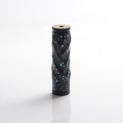 AV Lyfe Dimple Style Hybrid Vape Mechanical Mod - Black + Blue, Aluminum + Brass, 1 x 18650, 24mm Diameter