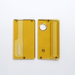 Replacement Front + Back Door Panel Plates for dotMod dotAIO Vape Pod System - Brown, PEI (2 PCS)