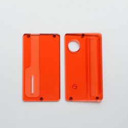 SReplacement Front + Back Door Panel Plates for dotMod dotAIO Vape Pod System - Translucent Red, PCTG (2 PCS)
