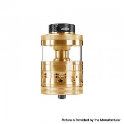 Authentic Steam Crave Aromamizer Ragnar RDTA Rebuildable Dripping Tank Vape Atomizer Advanced Kit - Gold, 18ml / 25ml, 35mm
