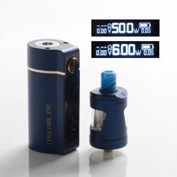 Authentic Innokin Coolfire Z50 50W 2100mAh VW Variable Wattage Box Mod Vape Kit with Zlide Tank - Blue, 6~50W, 4ml